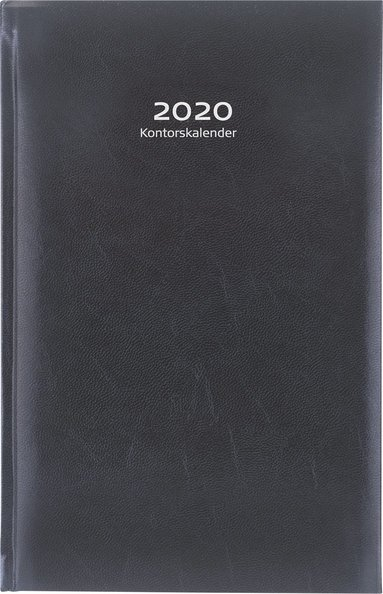 Kalender 2020 Kontorskalender konstläder svart 1