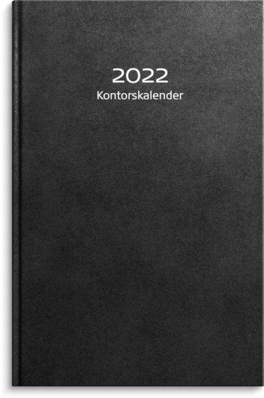 Kalender 2022 Kontorskalender konstläder svart