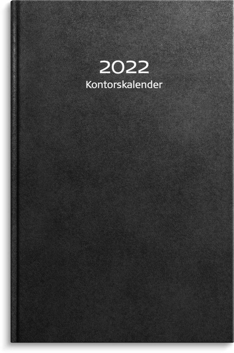 Kalender 2022 Kontorskalender konstläder svart 1