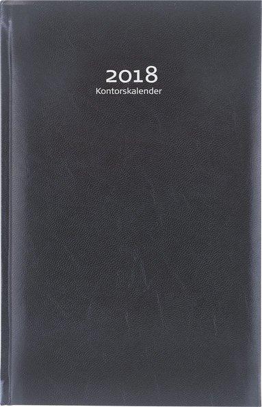Kalender 2018 Kontorskalender inbunden svart 1