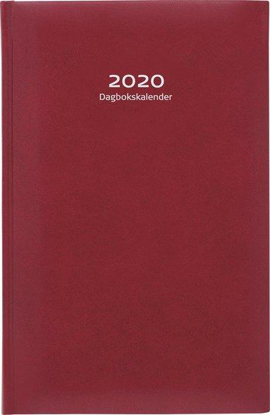 Kalender 2020 Dagbokskalender konstläder röd 1
