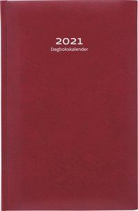 Kalender 2021 Dagbokskalender konstläder röd