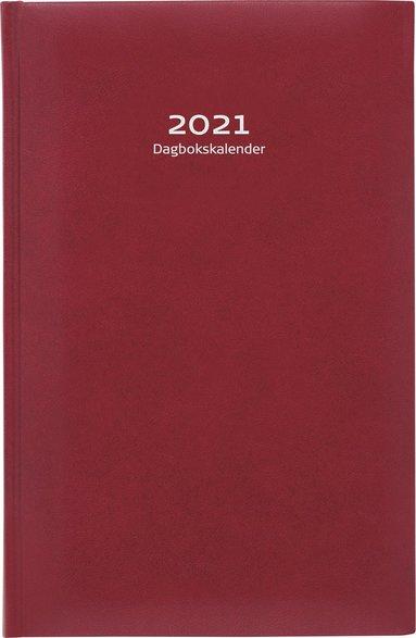 Kalender 2021 Dagbokskalender konstläder röd 1
