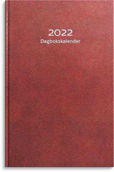 Kalender 2022 Dagbokskalender konstläder röd