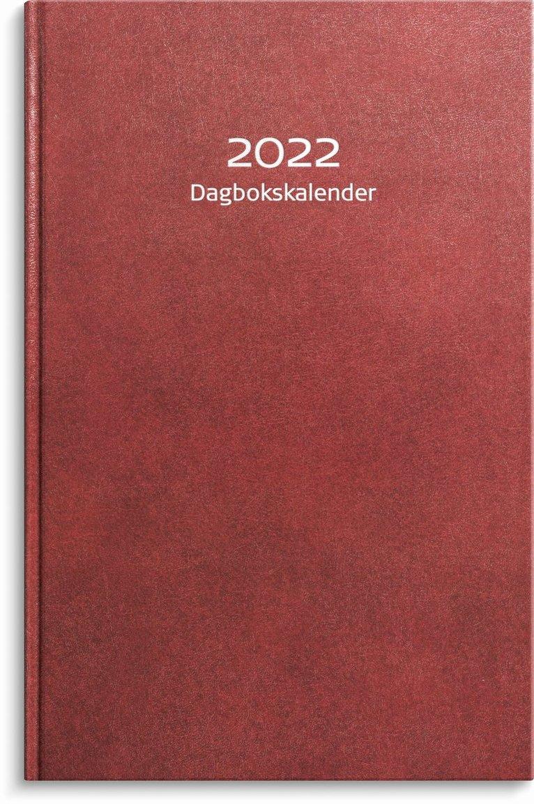 Kalender 2022 Dagbokskalender konstläder röd 1