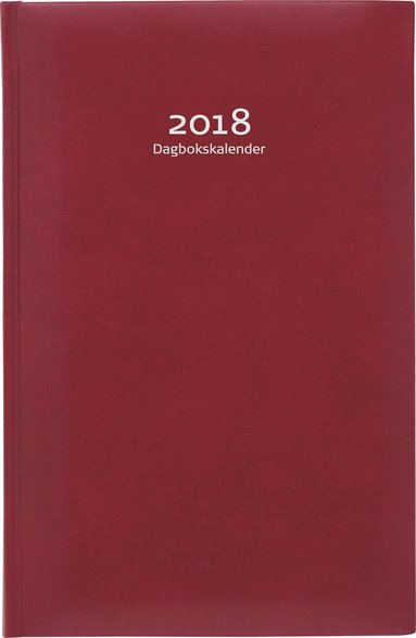 Kalender 2018 Dagbokskalender konstläder inbunden röd 1