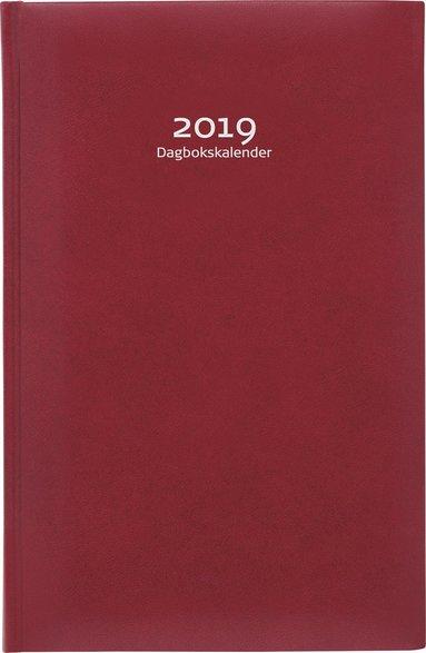 Kalender 2019 Dagbokskalender konstläder röd 1