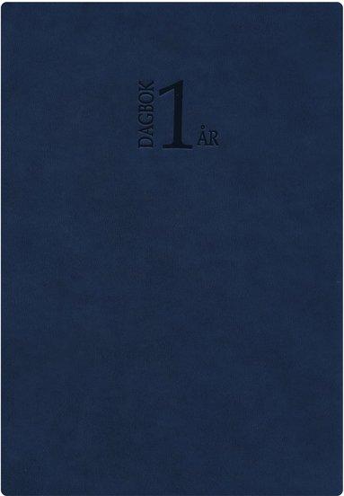 Kalender 2020 1-årsdagbok konstläder blå 1