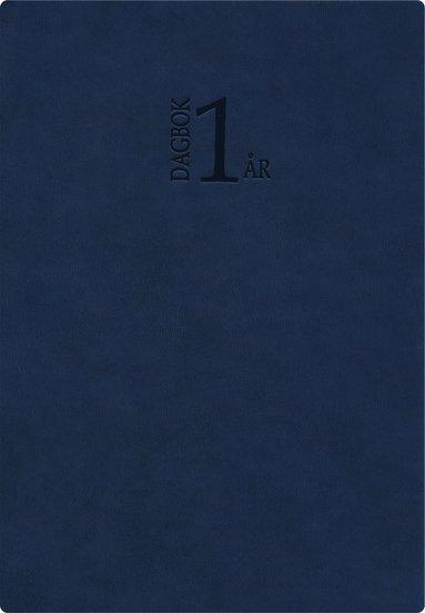 Kalender 2021 1-årsdagbok konstläder blå 1
