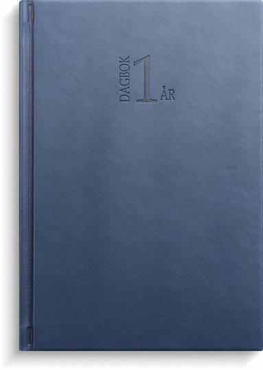 Kalender 2022 1-årsdagbok konstläder blå