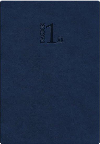 Kalender 2019 1-årsdagbok konstläder blå 1