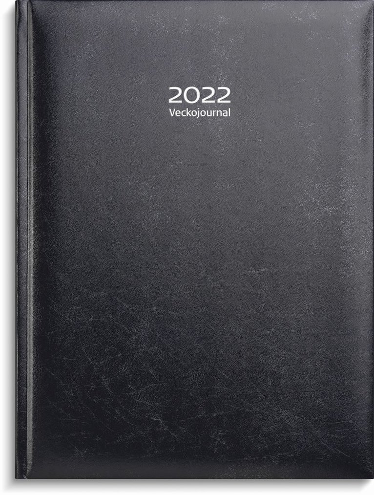 Kalender 2022 Veckojournal konstläder mörkblå 1