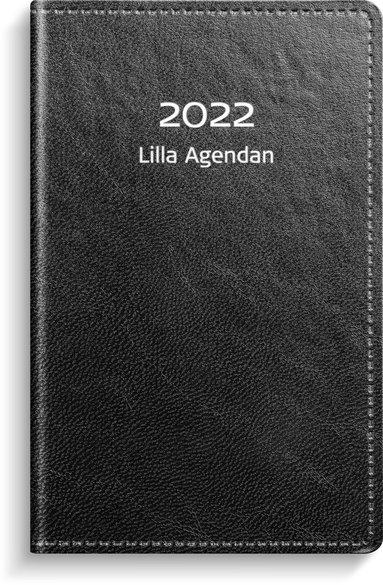 Kalender 2022 Lilla Agendan konstläder svart