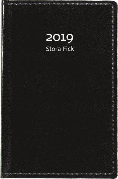 Kalender 2019 Stora Fick konstläder svart 1