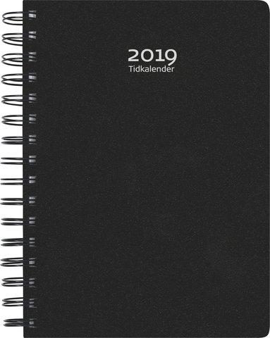 Kalender 2019 Tidkalender plast svart