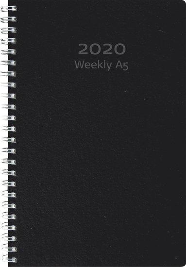 Kalender 2020 A5 Weekly refill svart 1