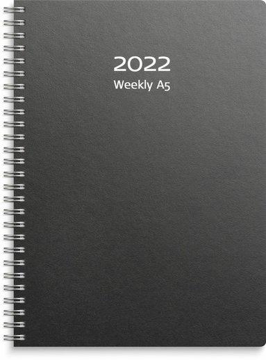 Kalender 2022 A5 Weekly refill svart