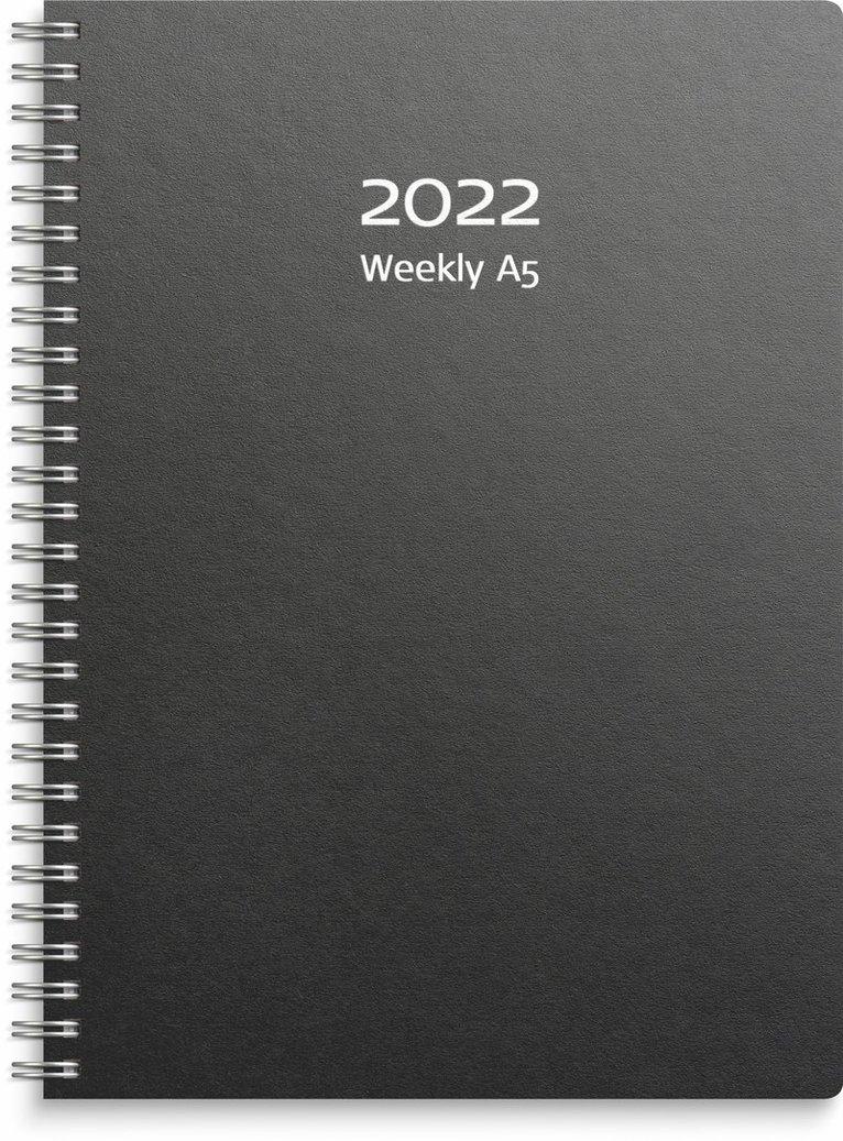 Kalender 2022 A5 Weekly refill svart 1