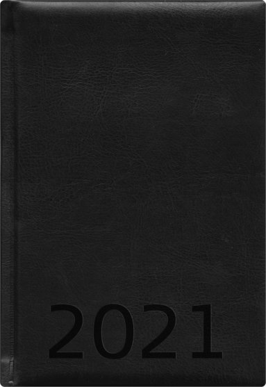 Kalender 2021 A5 Weekly konstläder svart 1