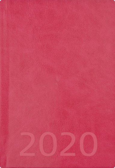 Kalender 2020 A5 Weekly konstläder rosa 1