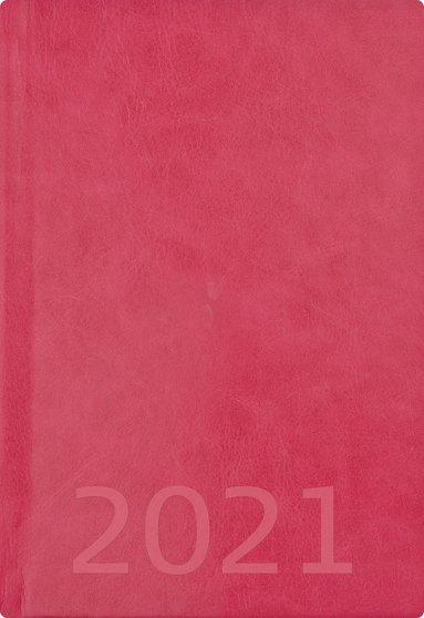 Kalender 2021 A5 Weekly konstläder rosa 1