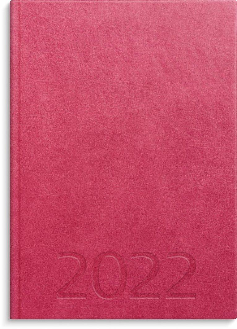 Kalender 2022 A5 Weekly konstläder rosa 1