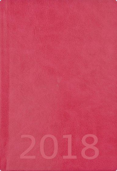 Kalender 2018 A5 Weekly konstläder rosa 1
