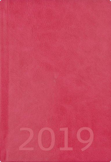 Kalender 2019 A5 Weekly konstläder rosa 1