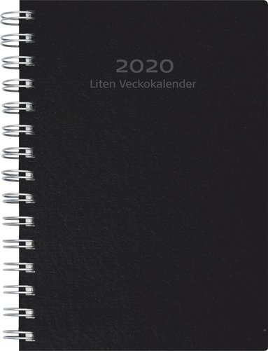 Kalender 2020 Liten Veckokalender refill svart 1