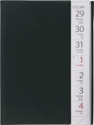 Kalender 2018 Liten Veckokalender plast svart 1