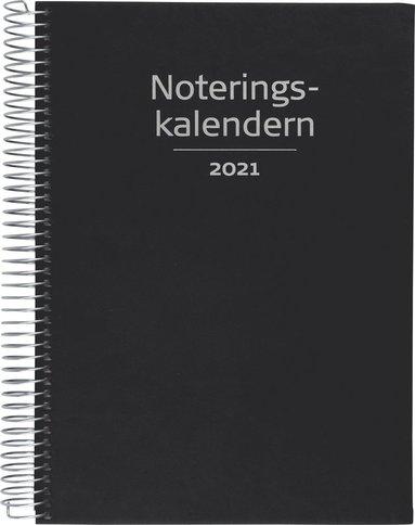 Kalender 2021 Noteringskalendern konstläder svart 1