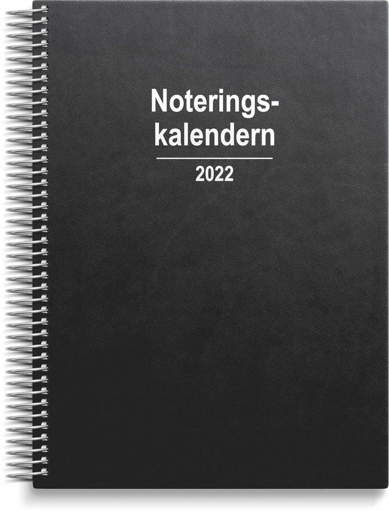 Kalender 2022 Noteringskalendern konstläder svart 1