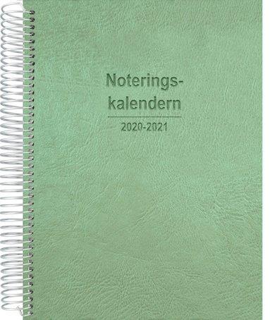 Kalender 2020-2021 Noteringskalendern för lärare grön 1