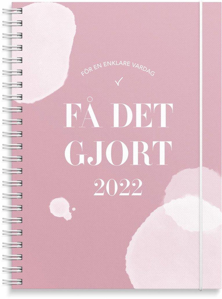 Kalender 2022 Få det gjort rosa 1