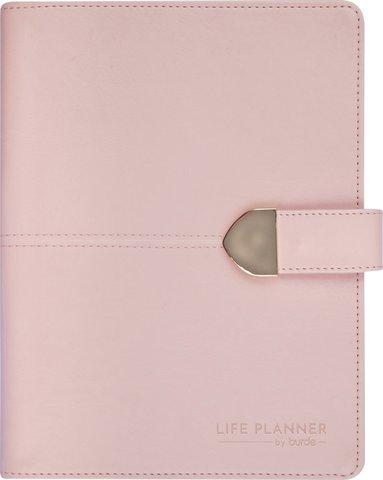Kalender 2020-2021 A5 Life Planner m slejf konstläder rosa 1