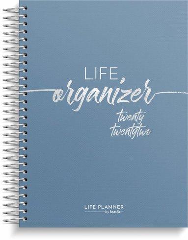 Kalender 2022 Life Organizer blå