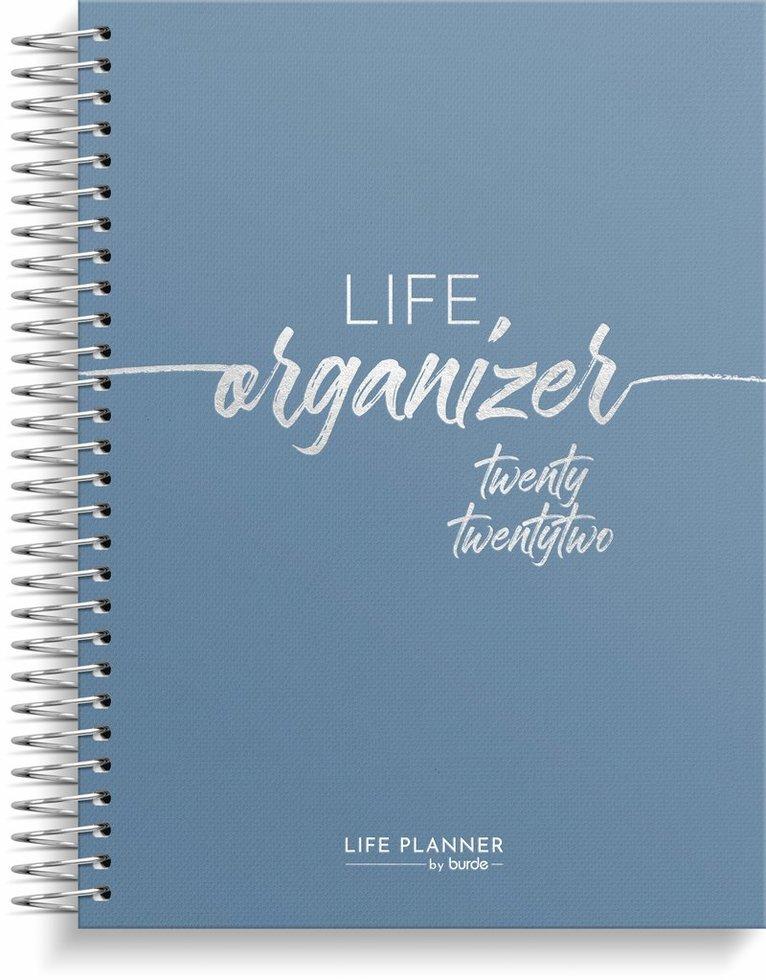 Kalender 2022 Life Organizer blå 1