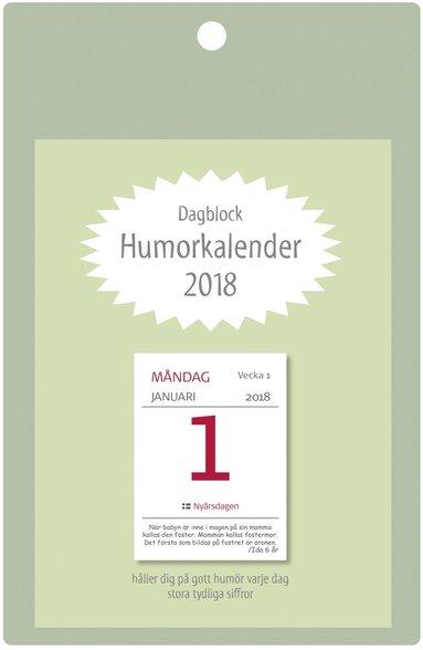 Väggblad 2018 Dagblock Humorkalender 1