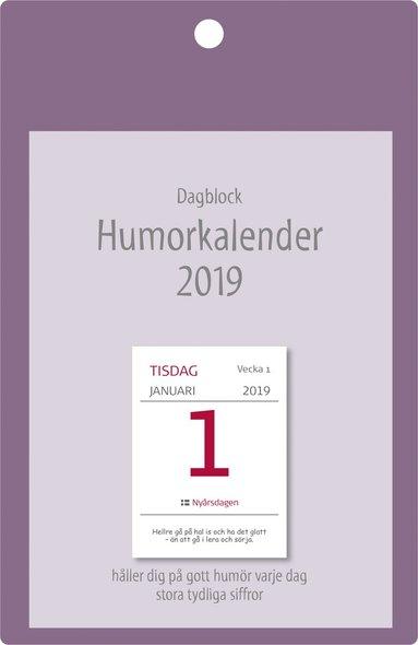 Väggblad 2019 Dagblock Humorkalender 1