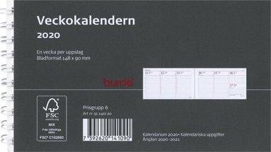Kalender 2020 Veckokalendern refill svart 1