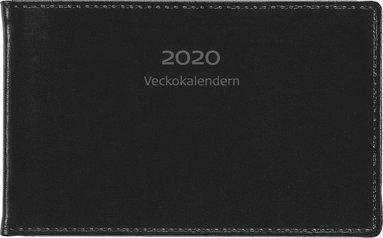 Kalender 2020 Veckokalendern skinn svart 1