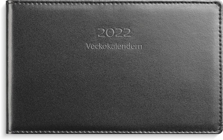 Kalender 2022 Veckokalendern skinn svart 1