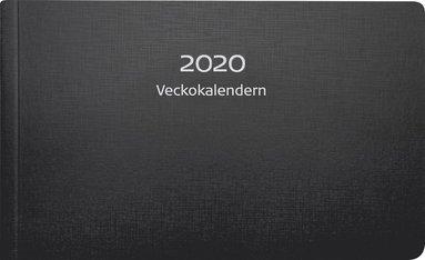 Kalender 2020 Veckokalendern plast svart 1