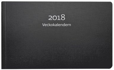 Kalender 2018 Veckokalendern kartong svart 1