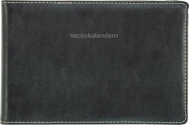 Kalender 2018 Veckokalendern konstläder svart 1