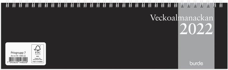 Bordskalender 2022 Veckoalmanackan 1
