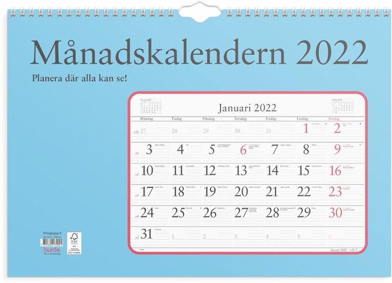 Väggkalender 2022 Månadskalendern 1