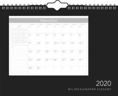 Väggkalender 2020 Miljökalendern Elegant 1