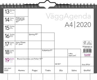 Väggkalender 2020 Väggagenda A4 1