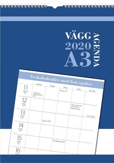 Väggkalender 2020 Väggagenda A3 1
